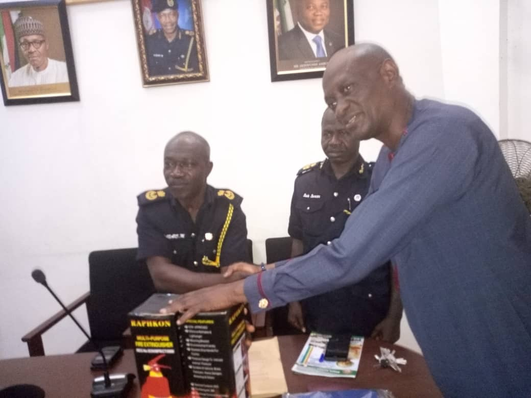 Visit to Director and Management Staff of Lagos State Fire Service